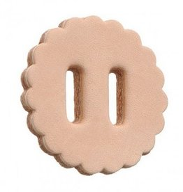 """Tough-1 Slotted Leather Rosettes - 1.5"""" Natural"""
