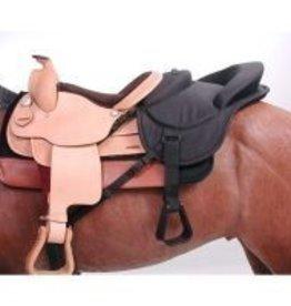 Tough-1 Ride-Behind Tandem Saddle - Black