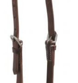 Showman Oiled Leather One Ear Headstall - Quick Change