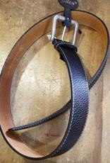 """Ovation Belt - Ovation Dover Downs Black/silver 32"""" Large"""