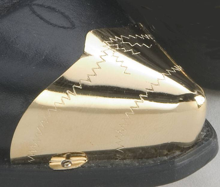 WEX Boot Toe Tips - Etched Gold