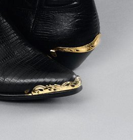 WEX Boot Heel Guards - Scalloped Cut-Out Brass