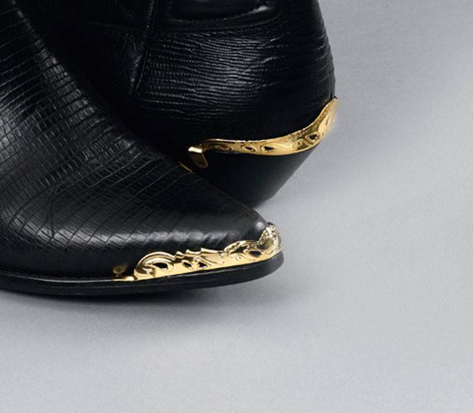 WEX Boot Toe Tips - Scalloped Cut-Out Brass