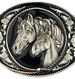 WEX Belt Buckle - Mare and Foal Horseheads