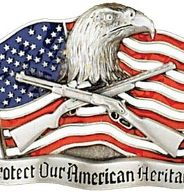 "WEX Belt Buckle - ""Protect Our American Heritage"""