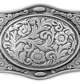 WEX Belt Buckle - Contoured Flora Etched