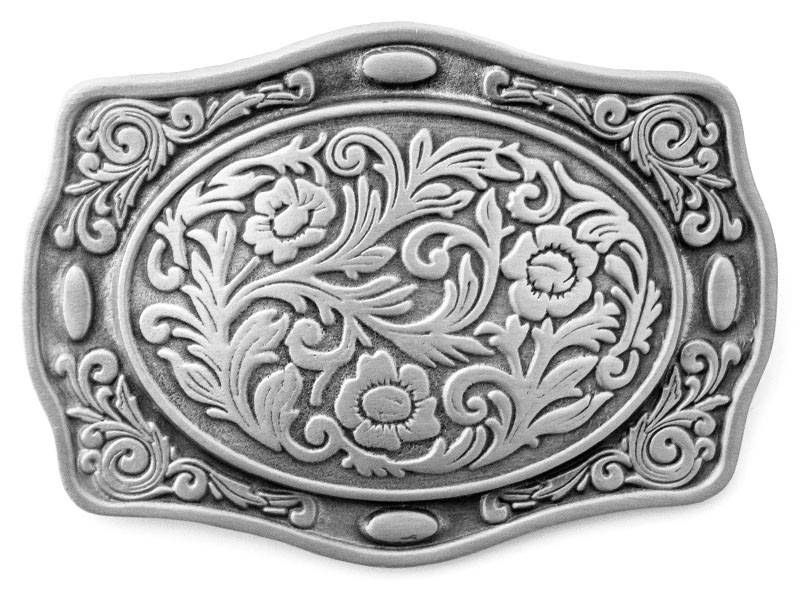 WEX Belt Buckle - Contoured Flora Etched