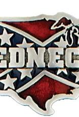 "WEX Belt Buckle - ""Redneck"" Confederate USA"
