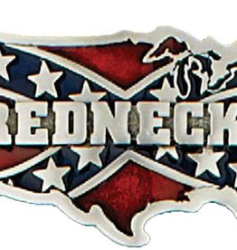 "WEX Belt Buckle - ""Redneck"" Confederate USA"
