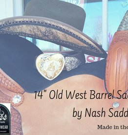 "Nash Saddlery Nash Old West Barrel Saddle - 14"" Reg Bar"
