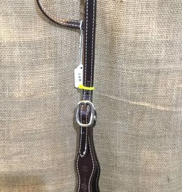 Circle L Circle L Scallloped One Ear Headstall - Horse Size Choc. Oil