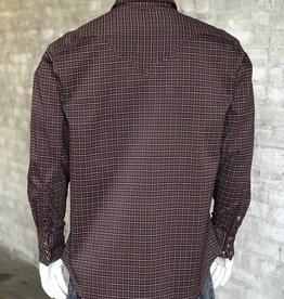 Rockmount Men's Rockmount Rayon Plaid Western Brown Shirt XL (Reg $84.95 Now 25% Off!!)
