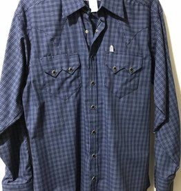 Rockmount Men's Check Western Shirt Blue/Black S Reg $73.95 @ 40% Off $44.95