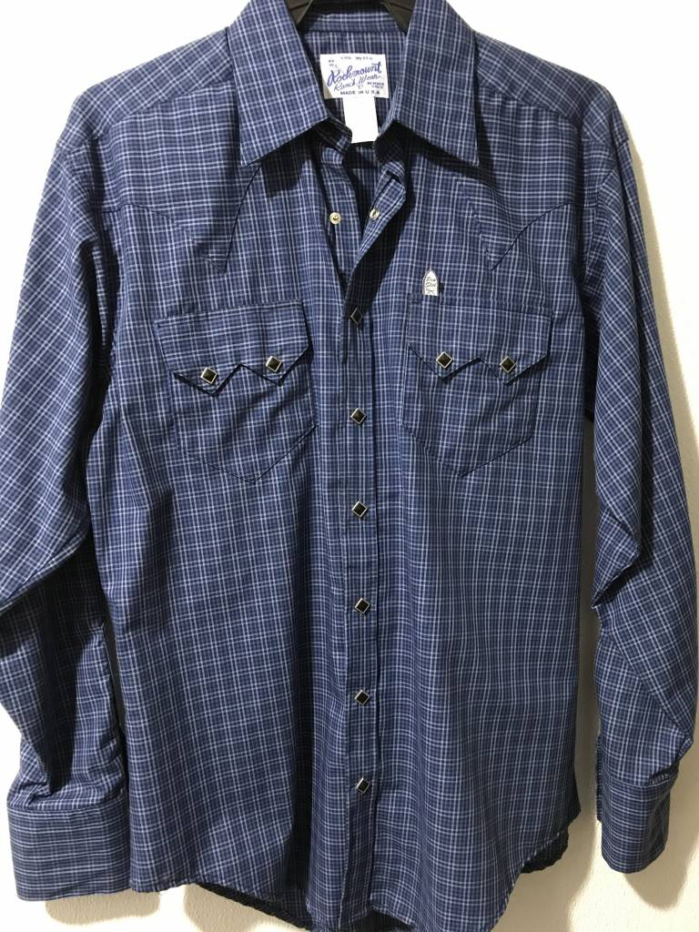 dfe20094f8f Mens Check Western Shirt Blue/Black S Reg $73.95 @ 40% Off $44.95
