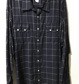 Rockmount Men's Plaid Western Shirt navy XXL Reg $83.95 @ 35% Off $54.95