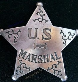Western Fashion Accessories Badge - U.S. Marshal Badge