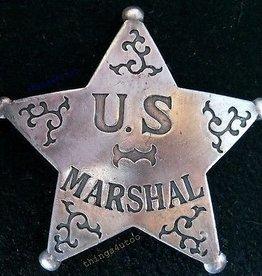 Western Fashion Accessories Badge - U.S. Marshal Badge
