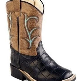 Old West Toddler's Old West Leatherette Broad Square Toe Boots