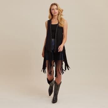 Wrangler Women's Wrangler Sleeveless Vest w/Fringe