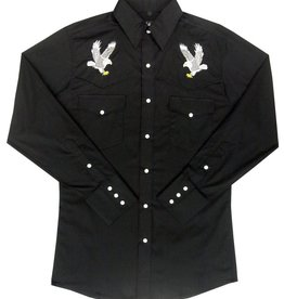 White Horse Men's White Horse Apparel Embroidered Eagle Shirt