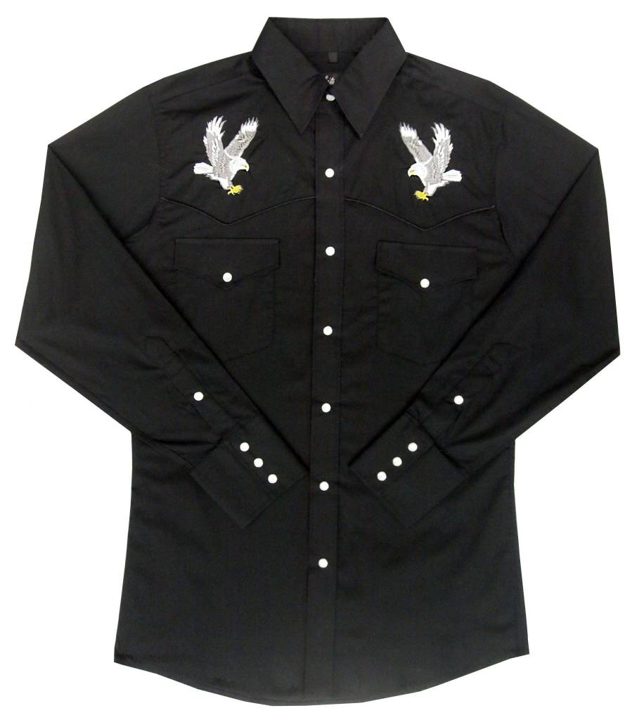 White Horse Men's White Horse Apparel Embroidered Eagle Shirt