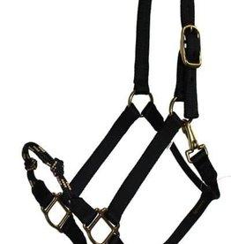 Triple E Hybrid Nylon Halter, Black - Horse Size