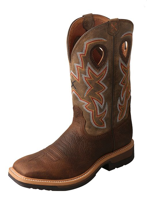 Twisted X Men's Twisted X Lite Cowboy Workboot – Taupe/Bomber