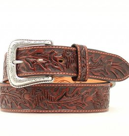 Nocona Nocona Acorn Hand Tooled Belt Brown