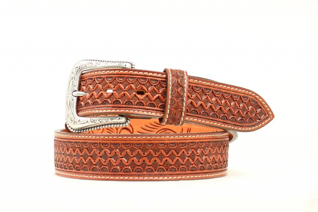 Nocona Nocona Hand Tooled Western Belt