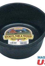 Little Giant Rubber Feed Pan Black - 2 QT