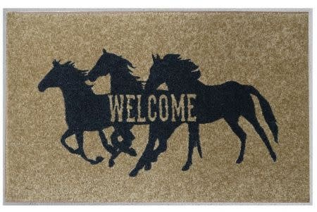 Showman Welcome Mat - Running Horses
