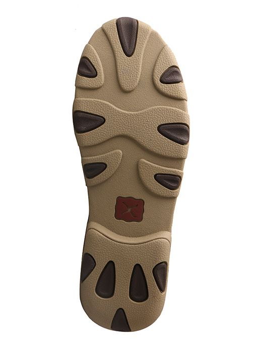 Twisted X Women's Twisted X Driving Moccasins – Brown/Emboss Flower