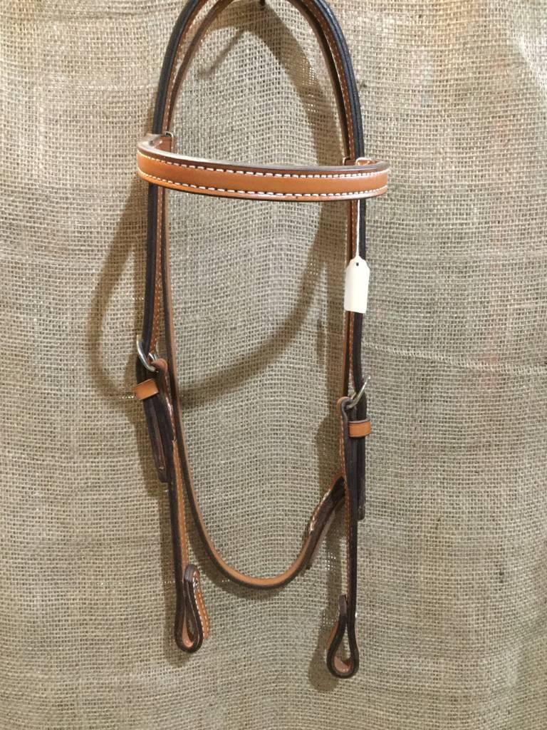 Circle L Circle L Plain Headstall, U.S.A. Made - Horse Size Lt. Oil