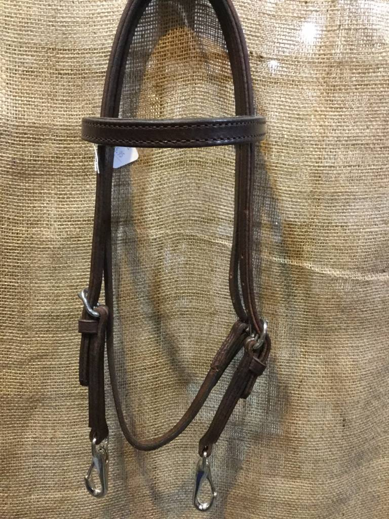 Circle L Circle L Quick Change Headstall, U.S.A. Made - Horse Size Dk. Oil