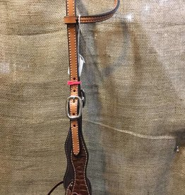Circle L Circle L Exotic Layover One Ear Headstall - Horse Lt. Oil