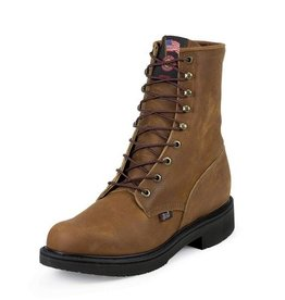 Justin Work Boots Men's Justin Aged Bark Steel Toe Workboot