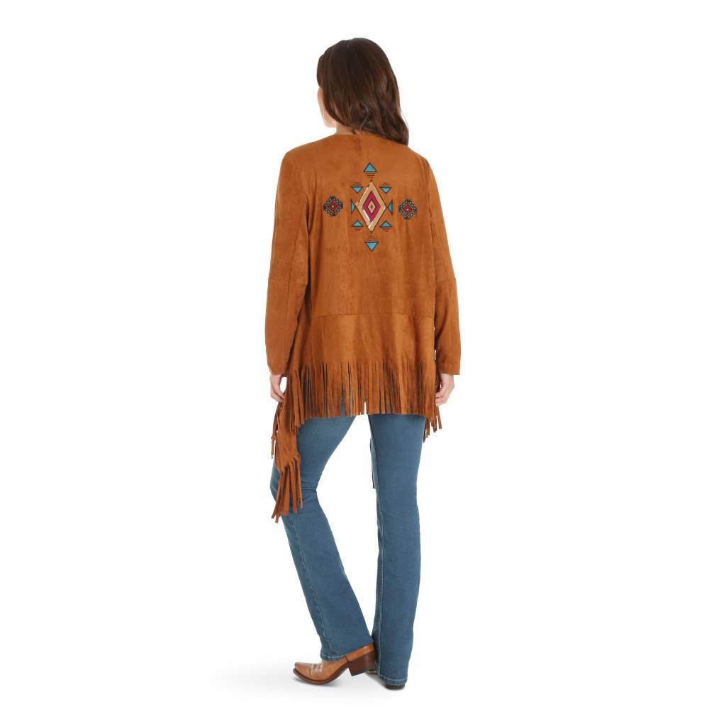 Wrangler Women's Wrangler Tan Suede Fringe Jacket