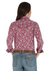 Wrangler Women's Wrangler Long Sleeve Red/Blue Paisley Shirt