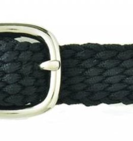 Braided Nylon Spur Strap Black