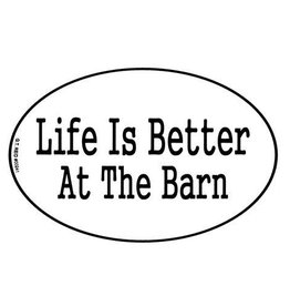 "Decal - ""Life Is Better at The Barn"" Euro Style"