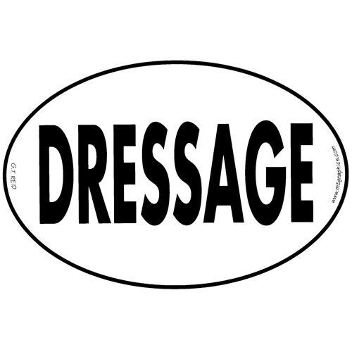 """Decal - """"Dressage"""" Euro Style"""