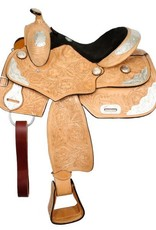 "Double T 14"" FQHB Fully Tooled Double T Youth Show Saddle (Reg $425.95 NOW 20% OFF!)"