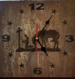 Lamprey Western Clock - Praying Horse & Cowboy