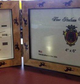Clock & Picture Frame, Cashmire Horse (Reg $59.95 NOW $39.95!)