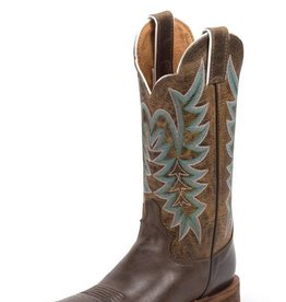 Justin Western Women's Justin Chocolate America Bent Rail Boots