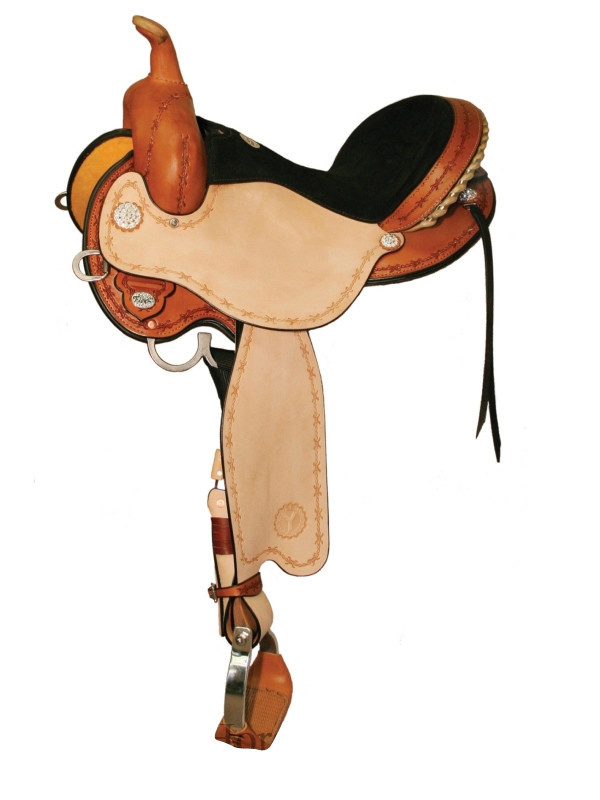 "Circle Y Circle Y, Kenny Harlow Flex2 Complete Competition Barrel Saddle, Reg Bar, 16"" Seat"