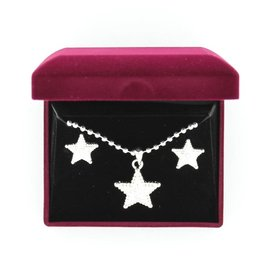 Set - Necklace/Earrings - Engraved Star