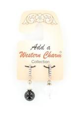 Charm - Black & Crystal