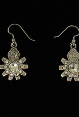 Earrings - Spur Rowel Crystal