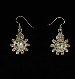 Earrings - Spur Rowel Crystal